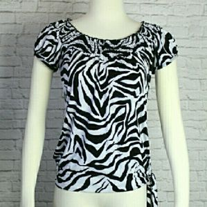 HeartSoul Black & White Zebra striped blouse